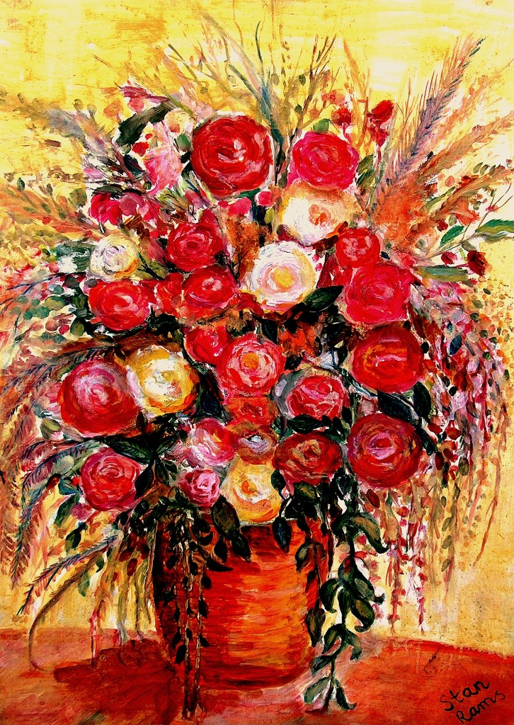 Flowers Stan Rams oilpainting 2004 HPIM0765