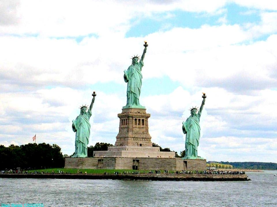 Lady Liberty quiz which statue of Liberty is real? digital art quiz