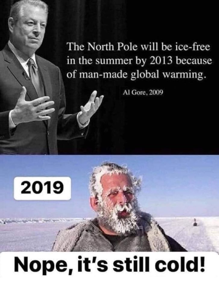 al gore liegt over de poolkappen