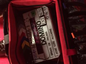Gast Acteur bij Domino Brian de Palma filmset MG Amsterdam